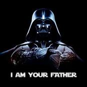 Dámské tričko s potiskem - I am your father black