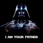 Pánské tričko s potiskem - I am your father black
