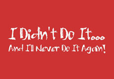 Dámské tričko s potiskem - I didn't do it red