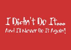 Pánské tričko s potiskem - I didn't do it red