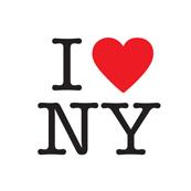 Dámské tričko potiskem - I love NY white