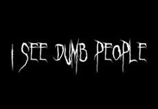 Dámské tričko s potiskem - I see dump people black