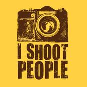 Pánské tričko s potiskem - I shoot people yellow