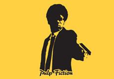 Pánské tričko s potiskem - Jules Winnfield yellow