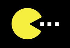 Dámské tričko s potiskem - Pacman black