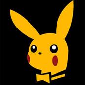 Pánské tričko s potiskem - Pikachu playboy black