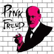 Pánské tričko s potiskem - Pink Freud white