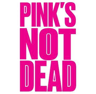 Dámské tričko- Pink's not dead black