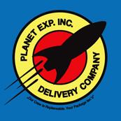 Pánské tričko s potiskem - Planet exp.inc.delivery company blue