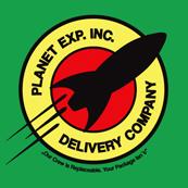 Dámské tričko- Planet exp.inc.delivery company green