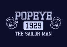 Dámské tričko s potiskem - Popeye black