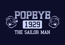Pánské tričko s potiskem - Popeye black