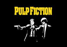 Dámské tričko s potiskem - Pulp fiction black
