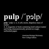 Pánské tričko s potiskem - Pulp intro black