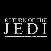 Pánské tričko s potiskem - Return of the Jedi black
