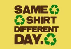 Pánské tričko s potiskem - Same shirt different day yellow