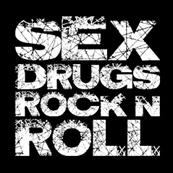 Dámské tričko s potiskem - Sex drugs rocknroll black