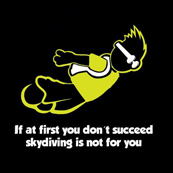 Dámské tričko- skydiving black