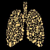 Dámské tričko s potiskem - Smoking black