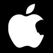 Pánské tričko s potiskem - Steve's apple black