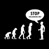 Pánské tričko s potiskem - Stop following me black