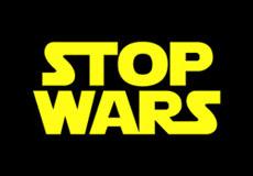 Dámské tričko s potiskem - Stop wars black