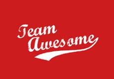 Pánská mikina s potiskem - Team awesome red