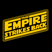 Dámské tričko s potiskem - The empire strikes back black