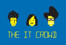 Dámské tričko s potiskem - The it crowd blue