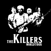 Pánské tričko s potiskem - The killers - world tour black
