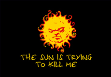 Dámské tričko s potiskem - The sun is trying to kill me black