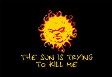 Pánské tričko s potiskem - The sun is trying to kill me black