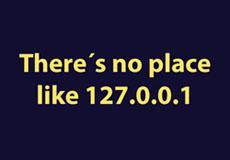 Pánské tričko s potiskem - There is no place like 127.0.0.1 purple