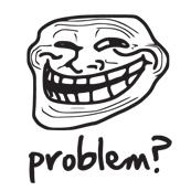 Dámské tričko s potiskem - Trollface white