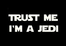 Pánské tričko s potiskem - Trust me I'm a jedi black
