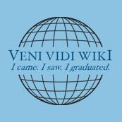 Dámské tričko s potiskem - Veni vidi wiki blue