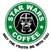 Pánské tričko s potiskem - Wader star wars coffee white