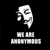 Dámské tričko s potiskem - We are anonymous black