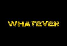 Pánské tričko s potiskem - Whatever black