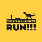Dámské tričko s potiskem - Why are you waving yellow