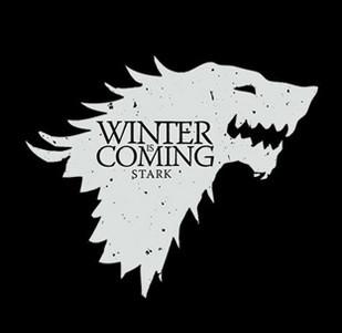 Pánské tričko s potiskem - Winter is coming black