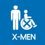 Pánské tričko s potiskem - X-man blue