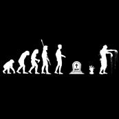 Dámské tričko s potiskem - Zombie evolution black