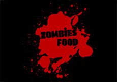 Pánské tričko s potiskem - Zombies food black
