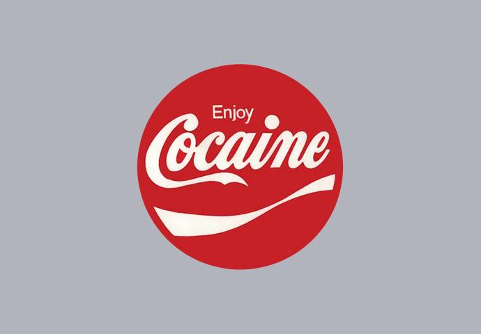 Pánské tričko s potiskem - Cocain