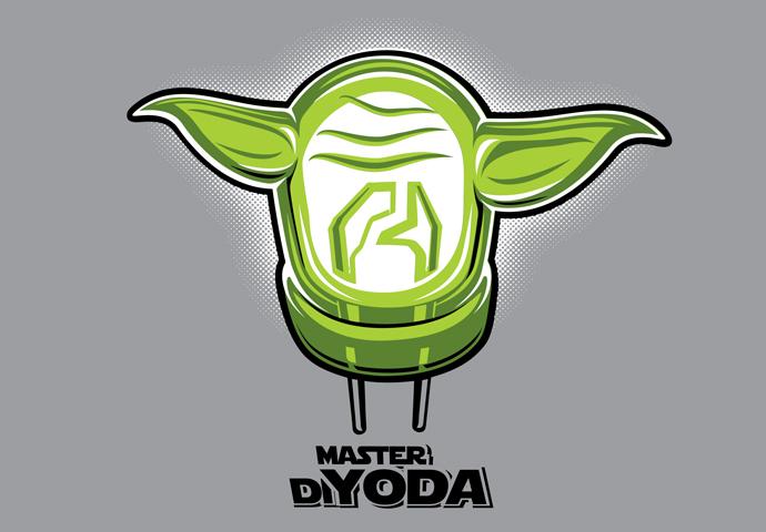 Pánské tričko s potiskem - DiYoda