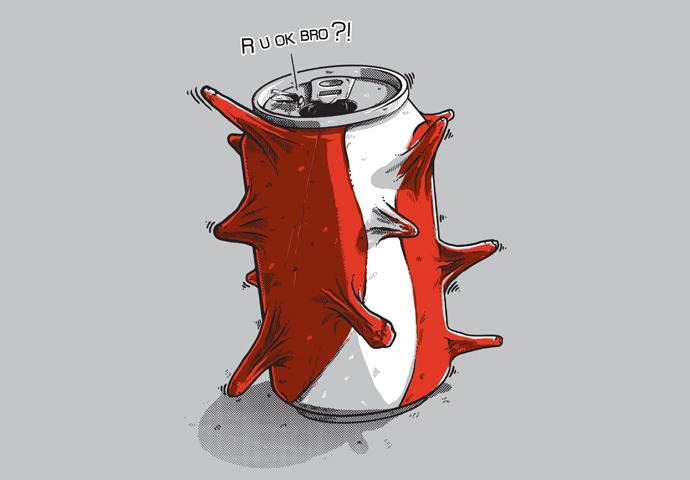 Pánské tričko s potiskem - CAFFEINE