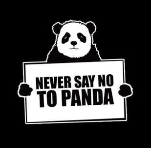 Dámské tričko s potiskem Never say no to panda
