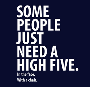 Dámské tričko s potiskem -Some people just need a high five