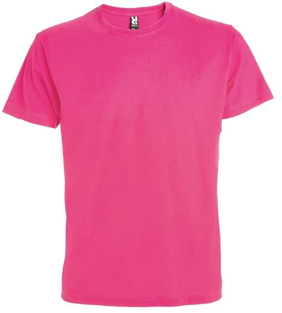 Pánské tričko bez potisku tm. růžová Fusciové